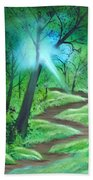 Sunlight In The Forest Beach Towel