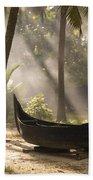 Sunlight Shining On A Canoe Beach Towel
