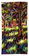 Sunlight Through The Trees Beach Towel by John  Nolan