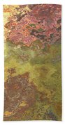Sunlit Bricks Abstract Beach Towel