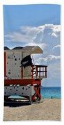 Sunny Day Miami Beach Beach Towel