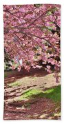 Sunny Patch Under The Cherry Trees Beach Towel