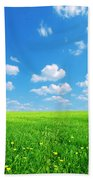 Sunny Spring Landscape Beach Towel