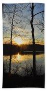 Sunrise Along The Delaware River Beach Towel