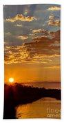Sunrise Bayou Beach Towel