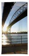 Sunrise Blue Water Bridges Beach Towel