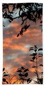 Sunrise Leaves Beach Towel