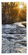 Sunrise On The St Vrain River Beach Towel