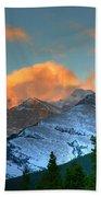 Sunrise Over Crowsnest Pass, Border Beach Towel