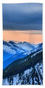 Sunrise Over The Rockies Beach Towel
