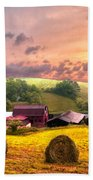Sunrise Pastures Beach Towel
