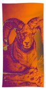 Sunrise Ram Beach Towel