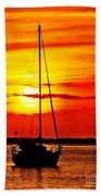 Sunrise Sailing Beach Towel