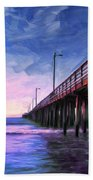 Sunset At Avila Beach Beach Towel