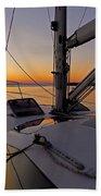 Sunset At Burlington Harbour ... Beach Towel