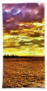 Sunset At Danshui Hdr Beach Towel