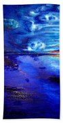 Sunset At Sea By Ted Jec. Beach Towel