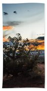 Sunset At Turrent Arch Beach Towel