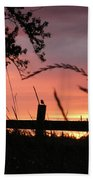 Sunset Bird Beach Towel