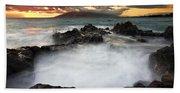 Sunset Boil Beach Towel