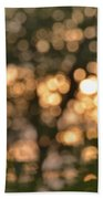 Sunset Bokeh  Beach Towel