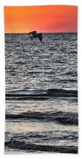 Sunset Fisherman Beach Towel