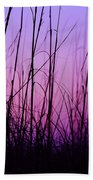 Sunset Grasses Beach Towel