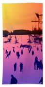 Sunset In Central Park Beach Towel