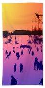 Sunset In Central Park Beach Sheet