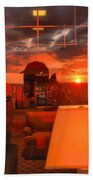 Sunset In Mckeever Lobby Beach Towel