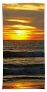 Sunset In Mexico Beach Towel