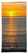 Sunset - Moana Beach - South Australia Beach Towel