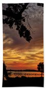 Sunset On Biloxi Bay Beach Towel
