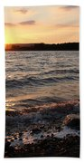 Sunset On The Bay Of Fundy Beach Towel