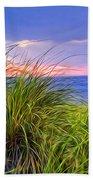 Sunset On Wellfleet Dunes Beach Towel