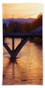 Sunset Over Caveman Bridge Beach Towel