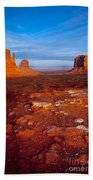 Sunset Over Monument Valley Beach Towel