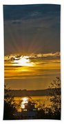 Sunset Over Steilacoom Bay Beach Towel