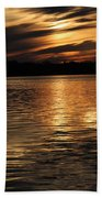 Sunset Over The Lake - 3rd Place Win Beach Towel