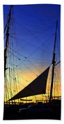 Sunset Over The Star Of India Beach Towel