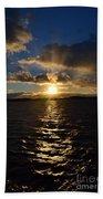 Sunset Over Winnepesaukee Beach Towel