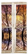 Sunset Tree Silhouette Colorful Abstract Picture Window View Beach Towel by James BO  Insogna
