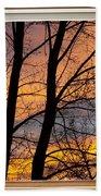 Sunset Window View Beach Towel