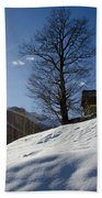 Sunshine Over The Snow Beach Towel
