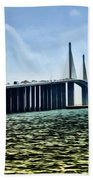 Sunshine Skyway Bridge - Tampa Bay Beach Towel