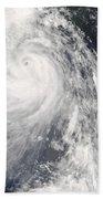 Super Typhoon Wipha Beach Towel