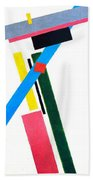 Suprematism Beach Towel
