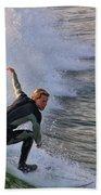 Surfin' The Wave Beach Towel