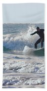 Surfing The Atlantic Beach Towel