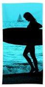Surfs Up Blue Beach Towel